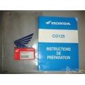 Instruction de préparation  125CG honda