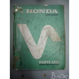Part list catalogue de pièces Honda CB 350 F