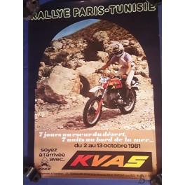AFFICHE POSTER PARIS - TUNISIE 1981