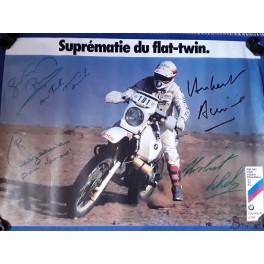 AFFICHE POSTER BMW PARIS - DAKAR 1981 1983 1984