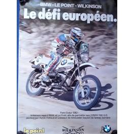 AFFICHE POSTER BMW PARIS - DAKAR 1982